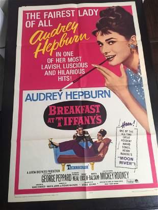 Breakfast At Tiffany's (R.1965) US One Sheet Movie