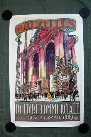 Bruxelles 1929 by Armand Massonet Belgium 1929 39