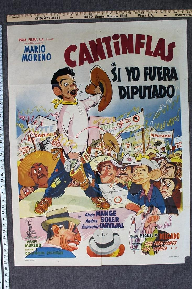 Cantinflas en Si Yo Fuera (1952) Mexican 1 SH Movie