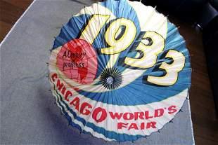 """Chicago World's Fair Parasol (1933) 30"""" Round US"""