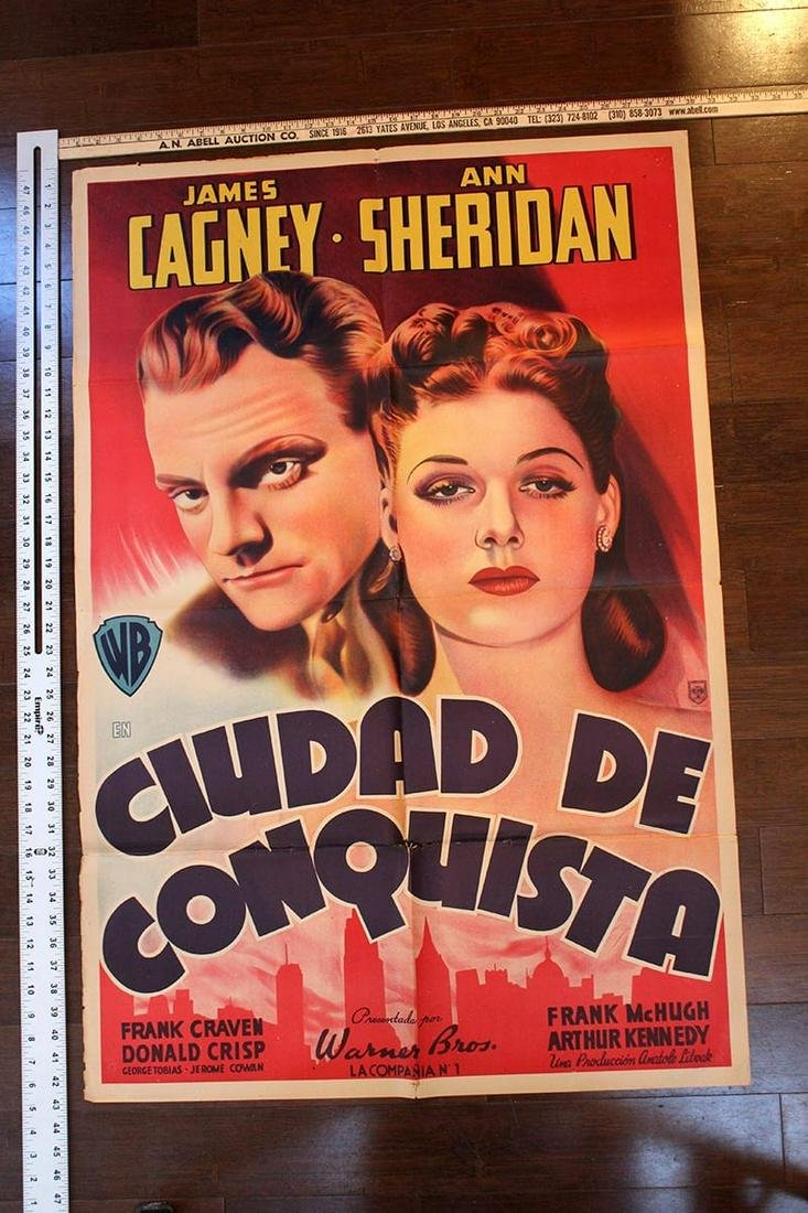 "City for Conquest (1940) 30"" x 42.5"" Spanish Movie"