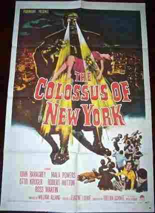 COLOSSUS OF NEW YORK '58 1 SH ROBOT WITH HUMAN BRAIN