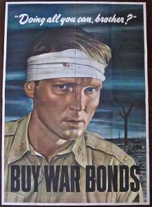 ALL YOU CAN BROTHER? 1943 WWII POSTER - RARE ROBERT
