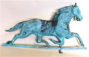 Full Body Copper Running Horse Weathervane