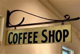 COFFEE SHOP sign, c. 1940