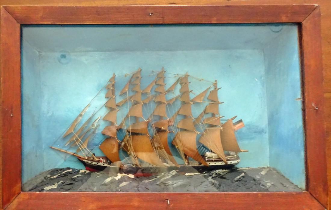 """Old Ship Diorama """"Pruessen"""""""