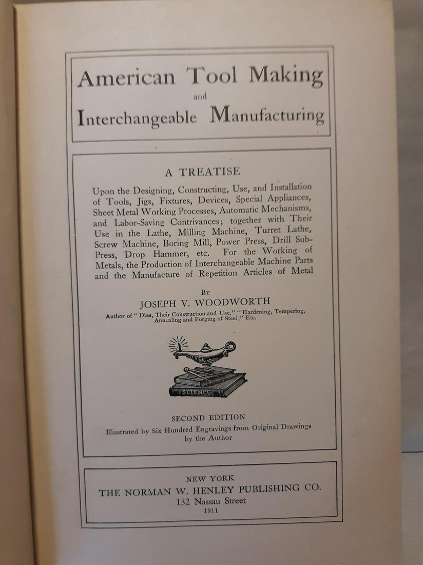 AMERICAN TOOL MAKING-INTERCHANGABLE MANUFACTURING-1911