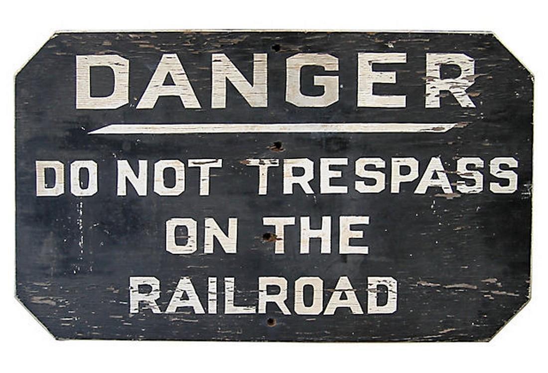 Danger Railroad Sign