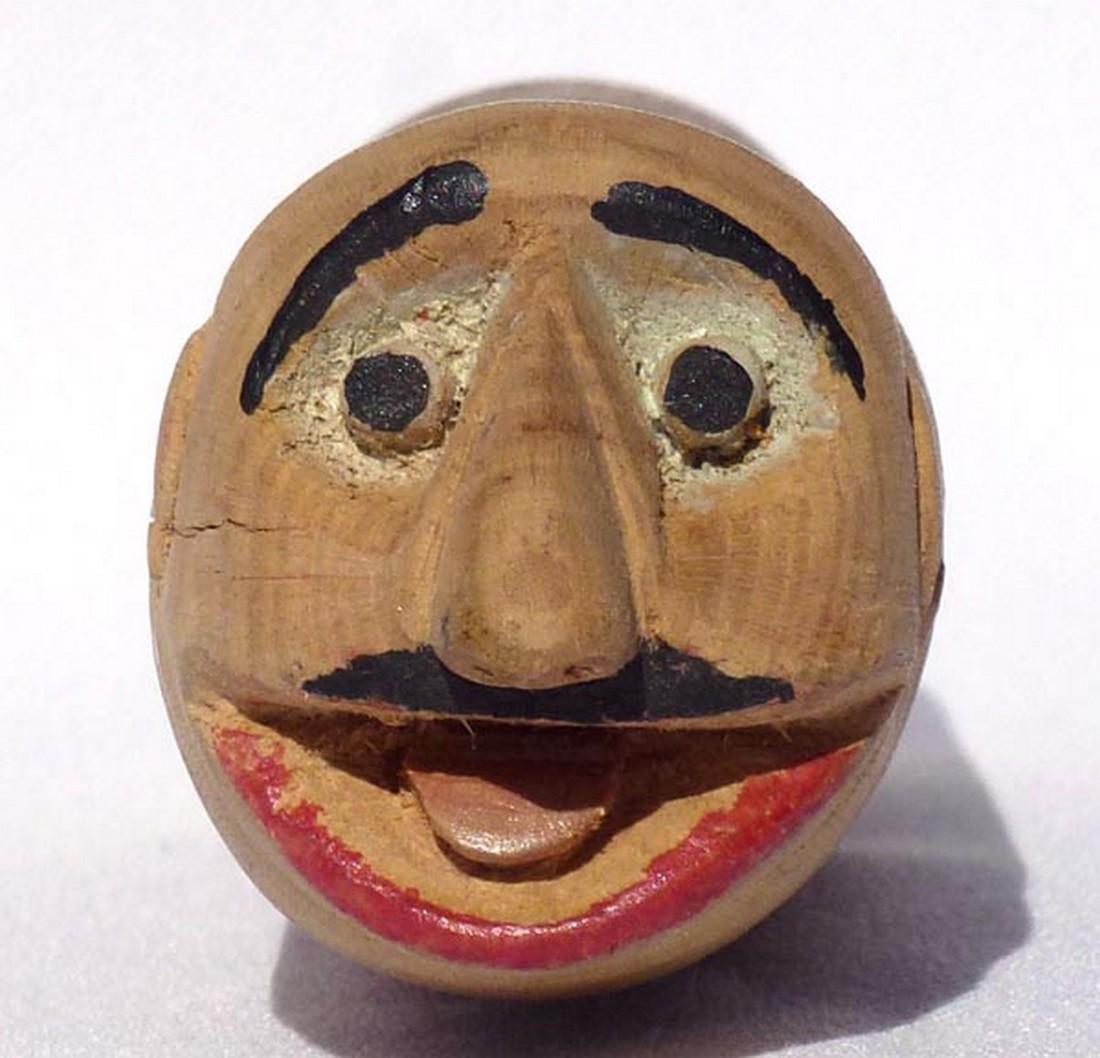 Very amusing folk art carved expressive face