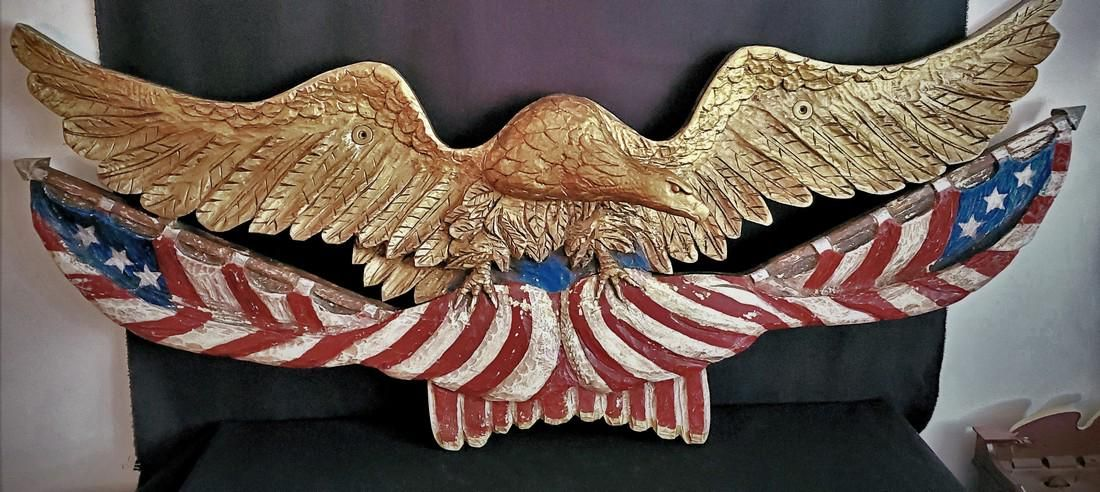 Huge Early 20th c. Eagle Plaque