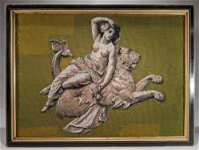 Intricate Glass Beadwork Neoclassical Mosaic Picture