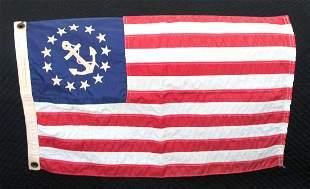 Vintage New England speedboat ensign