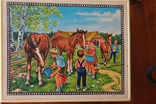 1940s Farm Scene Blocks