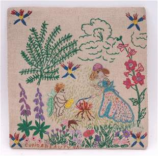 Cupid and Beauty Embroidery