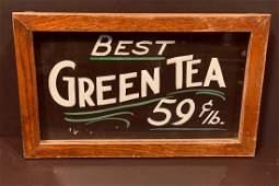 BEST GREEN TEA c. 1920 sign