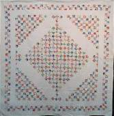 POSTAGE STAMP DIAMOND IN A SQUARE ANTIQUE QUILT