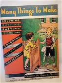 MANY THINGS TO MAKE-1920-McLoughlin-Child activity book