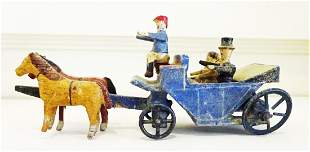 Antique Horse and Buggy with Bride and Groom