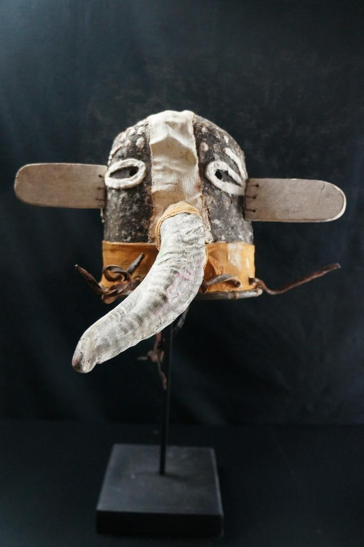 Antique Kachina Leather Mask/HELMET - Hopi - Native