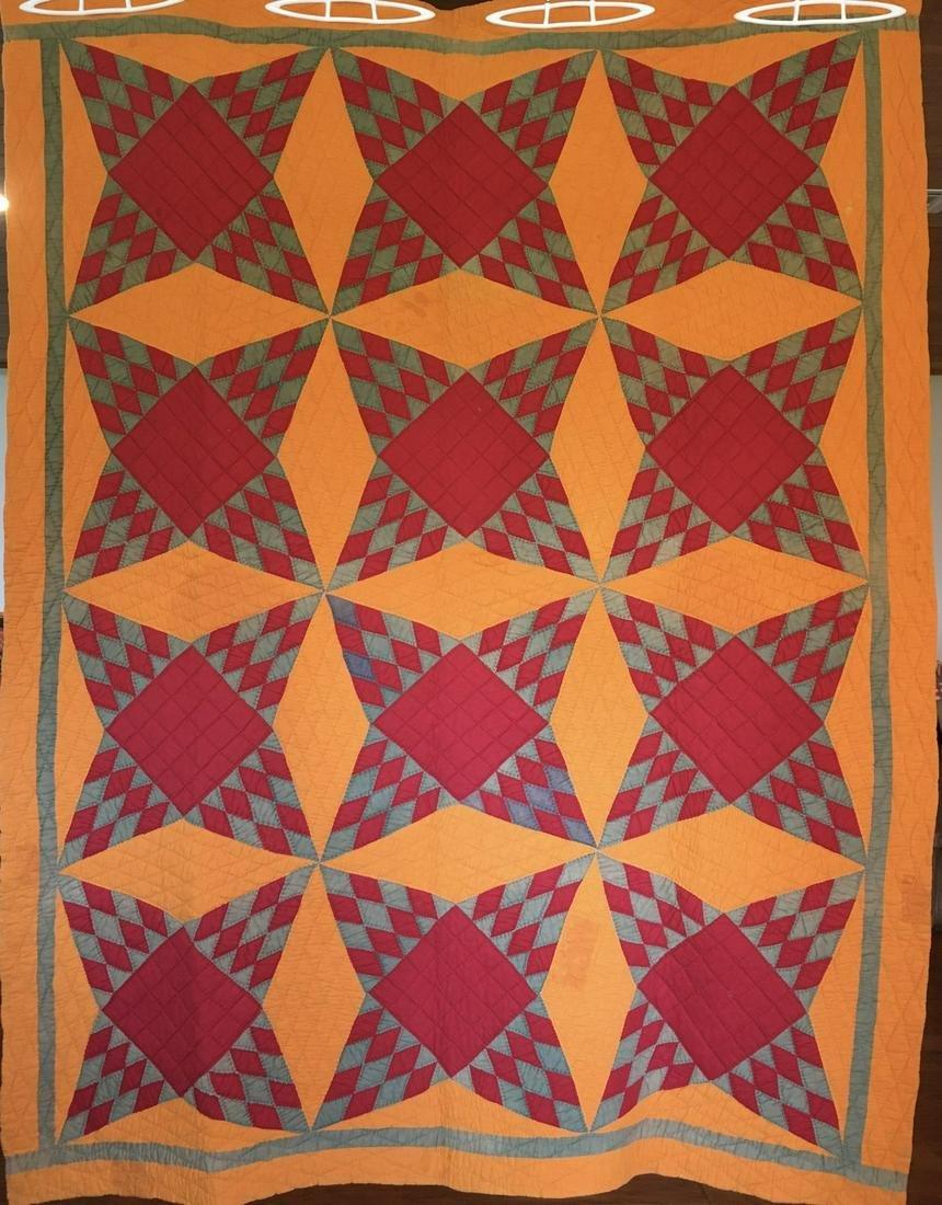 Southern Pine Burr Antique Quilt