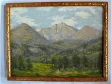 Wallace Leroy DeWolf Painting - Estes Park CO