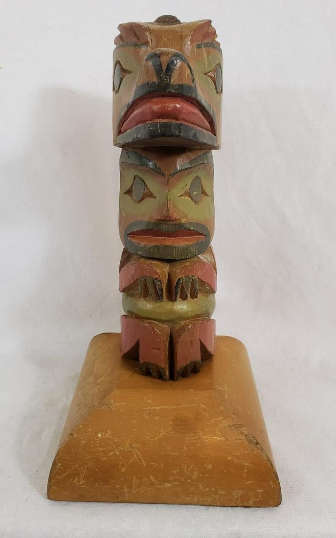 "Totem pole lamp base ca 1950""s"