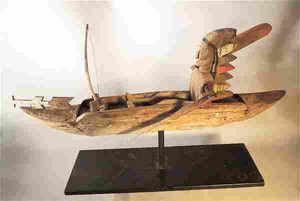 Large Carved Indian Whirlgig