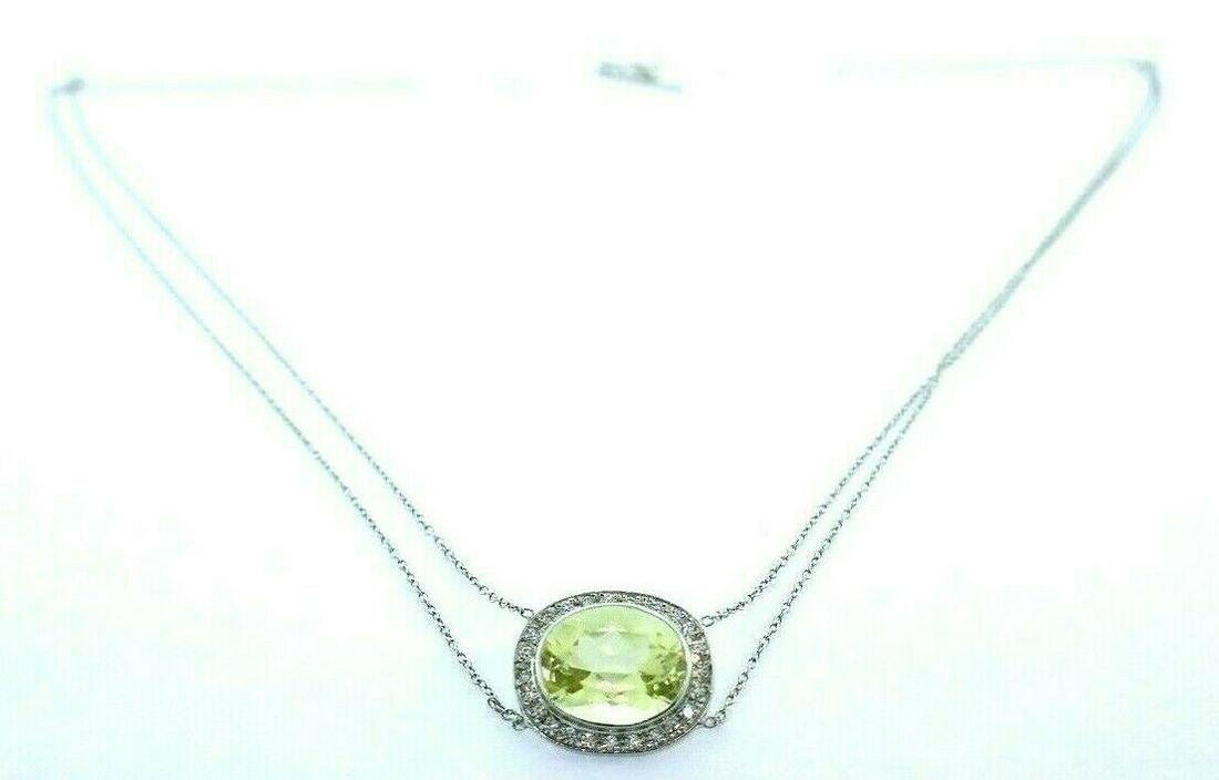 Moritz Glik Diamond 18k White Gold Yellow Sapphire