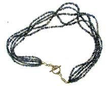 STUNNING Silver Iolite Necklace Vintage