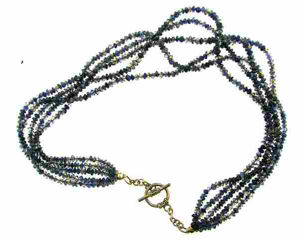 STUNNING Silver & Iolite Necklace Vintage!