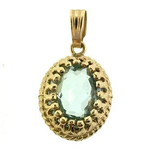 Lovely 14K Yellow Gold Charm Pendant with Gorgeous