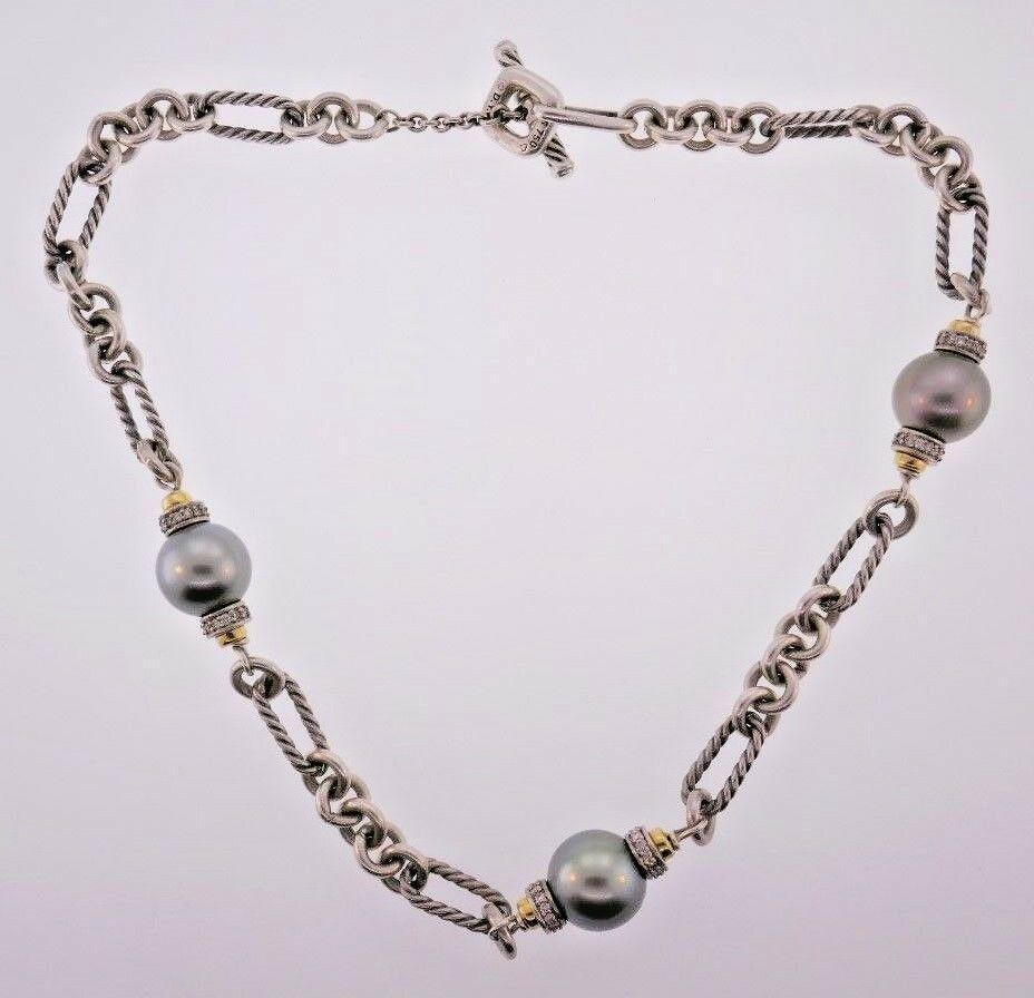 DAVID YURMAN Figaro 18k, Sterling Silver, Diamond &