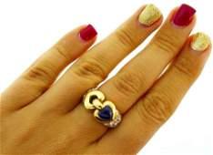 Authentic 1990's Bulgari 18 Yellow Gold Diamonds