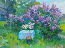 Oil painting Lilac blossoms Tepeta Miacheslav