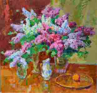 Oil painting Bouquets of lilac Tepeta Miacheslav