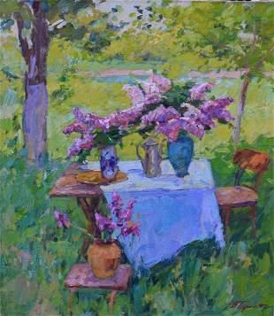 Oil painting In the garden Tepeta Miacheslav