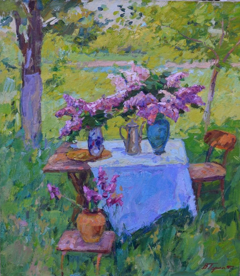 Oil painting In the garden Tepeta Miacheslav