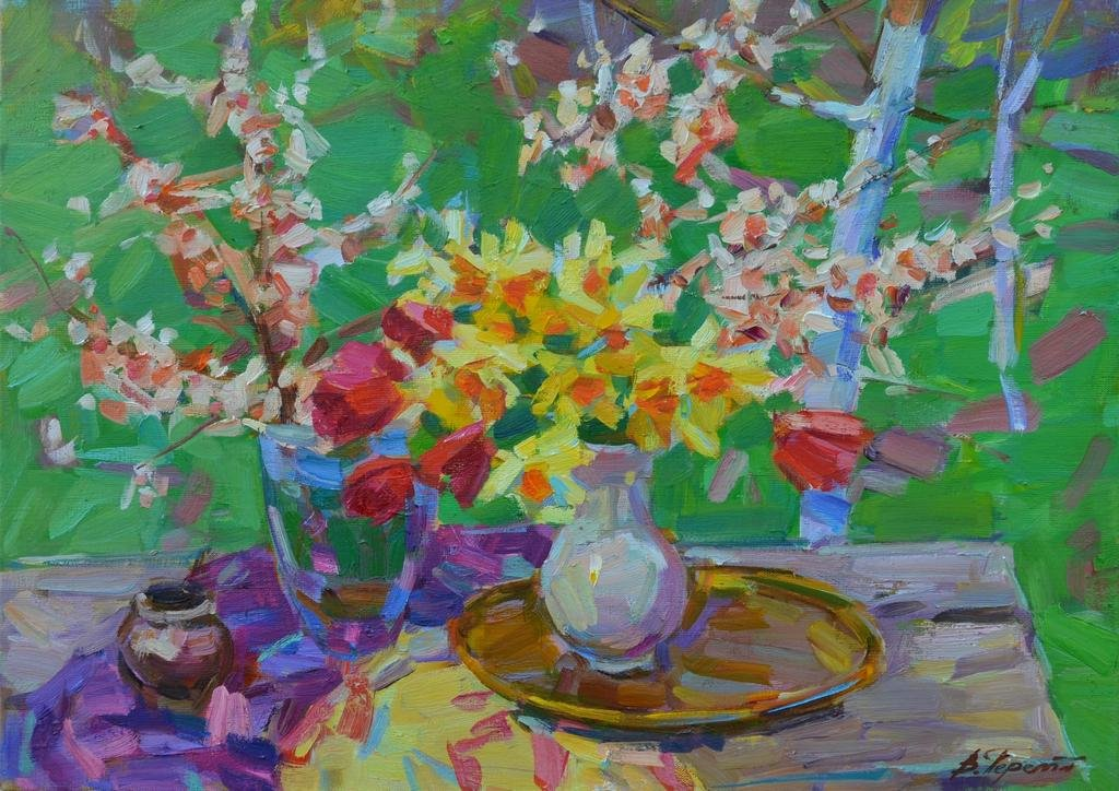 Oil painting Spring bouquet Tepeta Miacheslav
