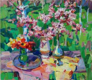 Oil painting Spring still life Tepeta Miacheslav