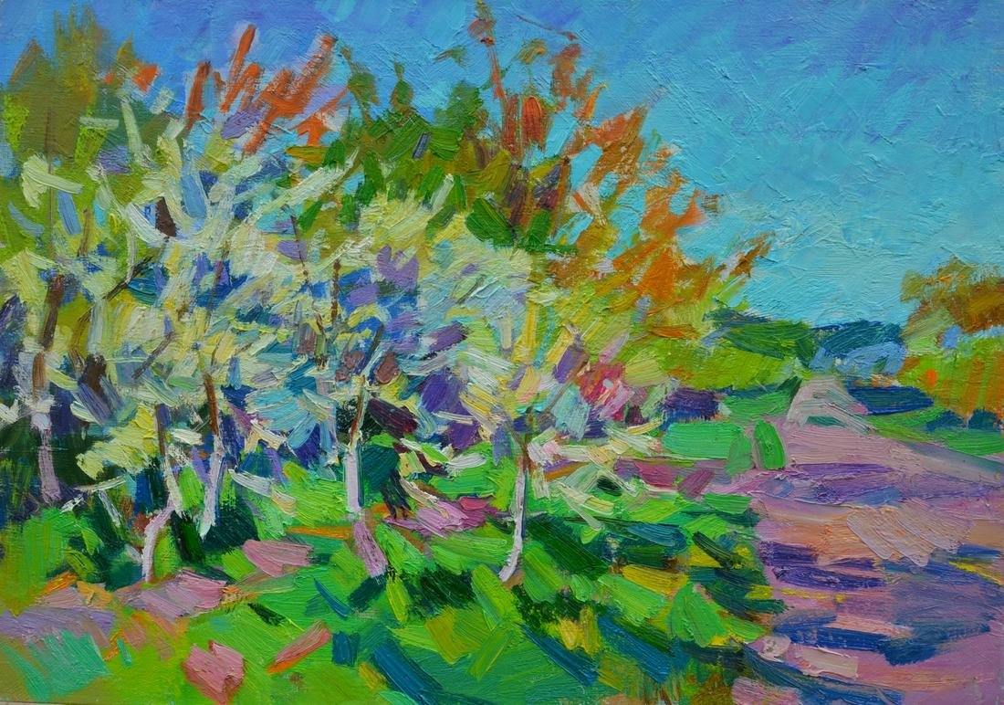 Oil painting Cherry garden Tepeta Miacheslav