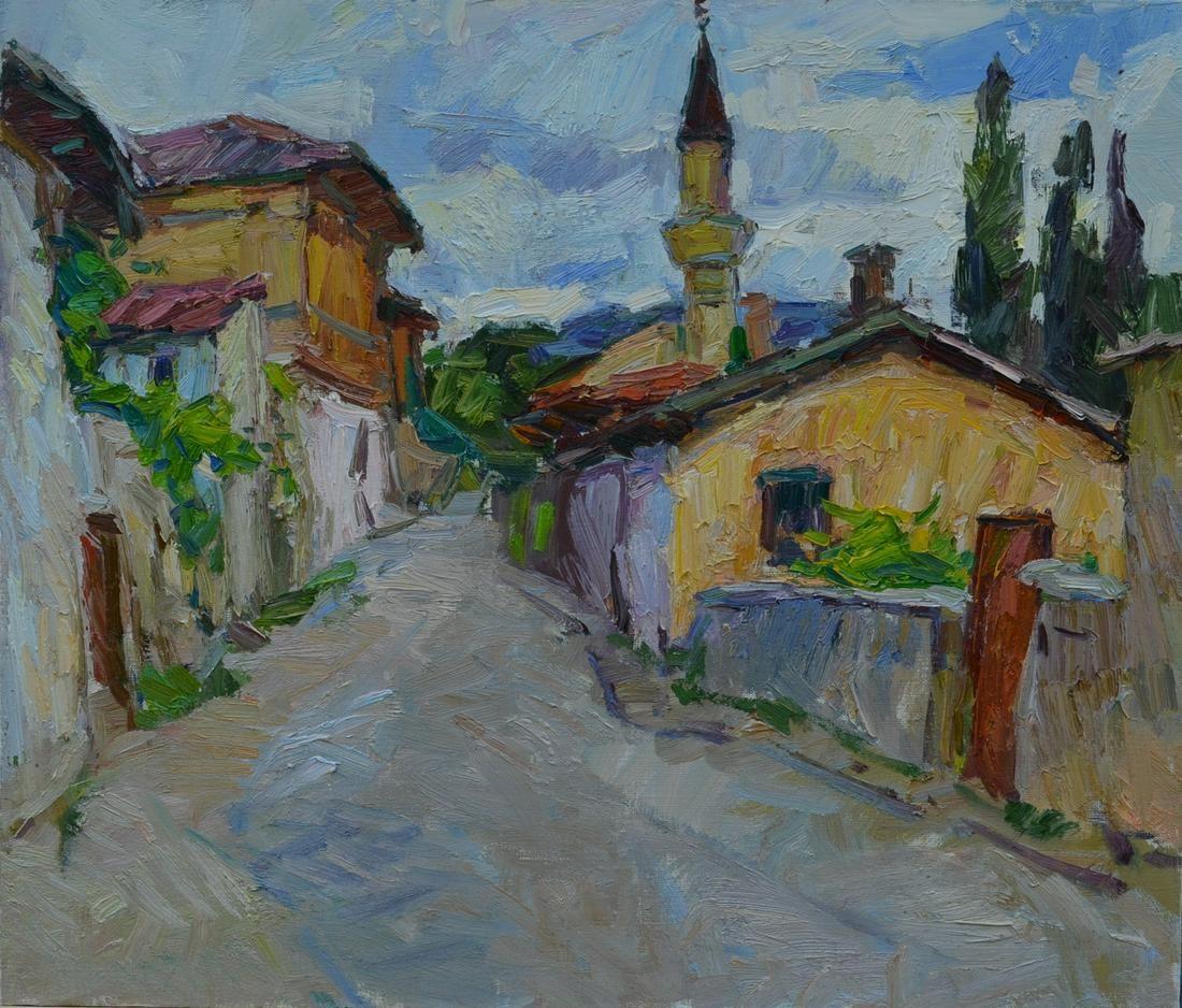Oil painting Street in Bakhchisarai Tepeta Miacheslav