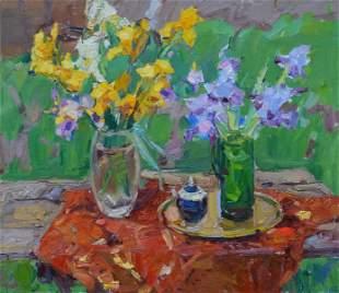 Oil painting Irises Tepeta Miacheslav