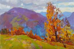 Oil painting Autumn in the mountains Tepeta Miacheslav