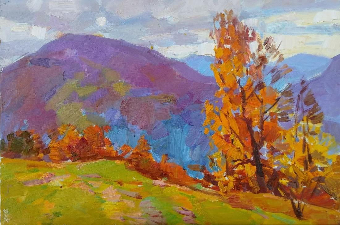 Oil painting Autumn in the mountains Tepeta Miacheslav