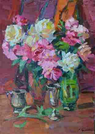 Oil painting Peonies Tepeta Miacheslav