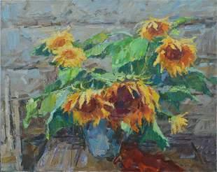 Oil painting Sunflowers Tepeta Miacheslav