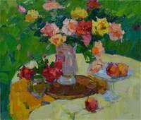Oil painting Roses Tepeta Miacheslav