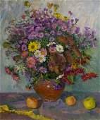 Oil painting Autumn bouquet Mynka Alexander Fedorovich