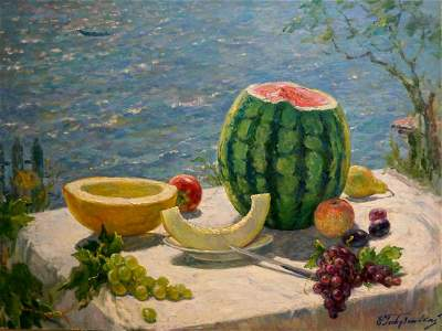 Oil painting August Gavdzinsky A.S.