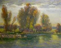 Oil painting Evening Mynka Alexander Fedorovich